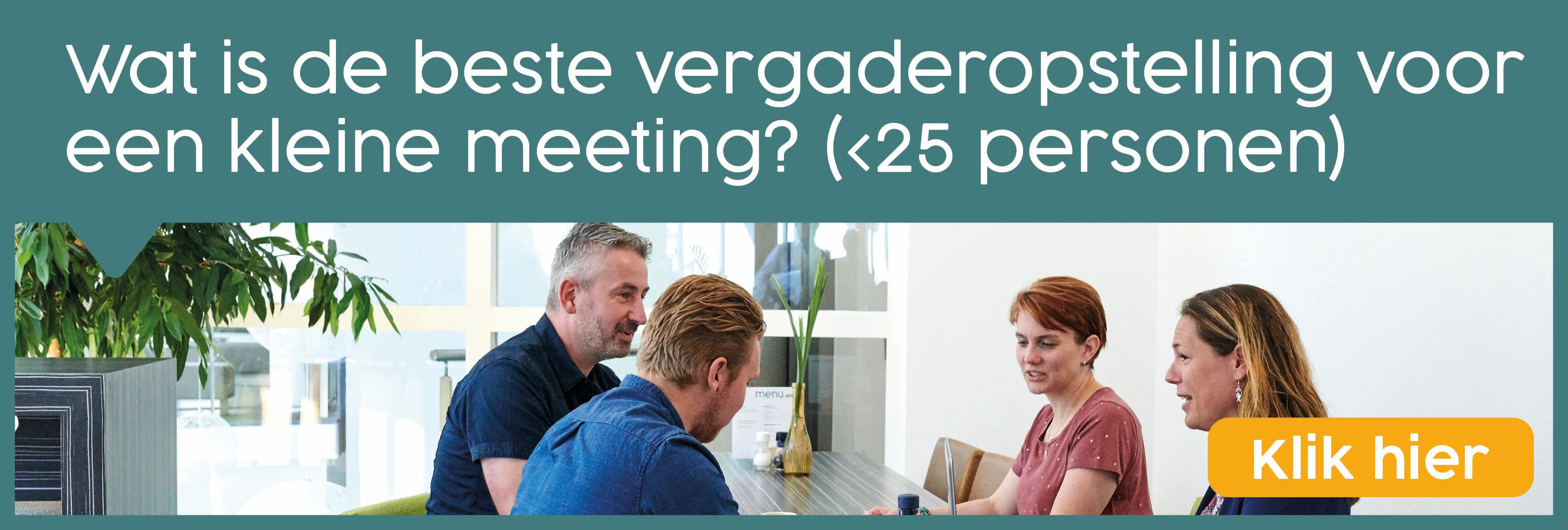 Vergaderopstelling Aristo meeting center